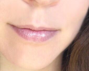 Organic lip gloss - Erubescent - Clear lip gloss - Nourishing lip color - High shine - Lip shimmer