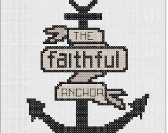 The Faithful Anchor- Cross Stitch Pattern