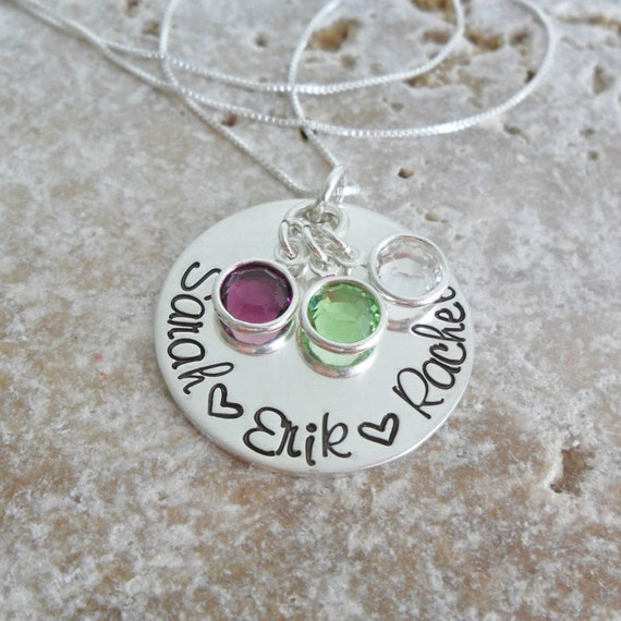 Mommy Necklace | Gift for Mom | Mommy Jewelry | Grandmother Jewelry | Gift for Grandma | Kids' names | Grandkids' Names | Handwriting Font