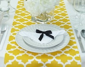 Yellow Table Runner - Yellow Wedding Linens - Yellow Table Topper - Fulton Yellow Table Runner