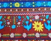 Images of embroidery and ribbon, 1/2 yard, pure cotton fabric