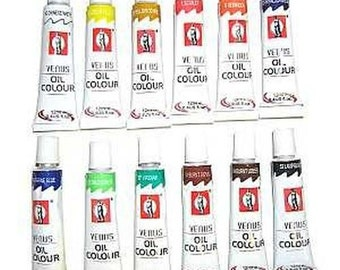 Artist Oil Paints Set 12 colors in a set, 12ml per tube FREE SHIPPING