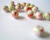 Summer Colors Mottled Round Glass Beads 6mm - 50 pcs  (A5)