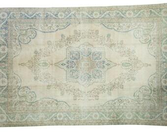 7x10 Distressed Oushak Carpet