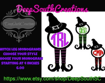 Witch Legs with Hat Monograms
