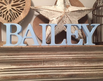 Personalised Wooden Name Sign - Free-standing - price per letter - Georgian