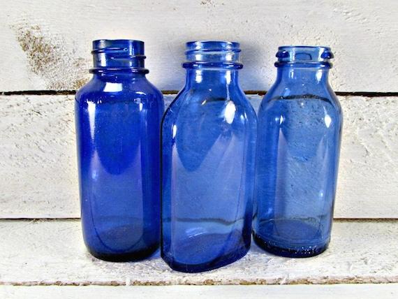 Antique Blue Glass Bottles Antique Cobalt Blue Glass