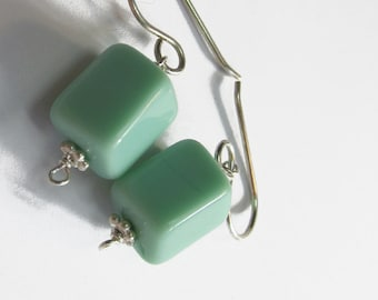 Mint Block Earrings