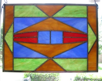 Stained Glass Nez Perce Native American Design