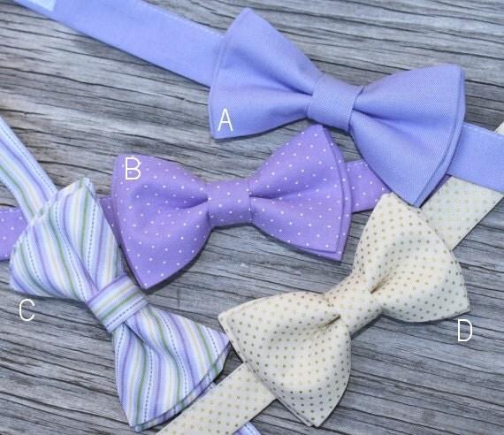 Bow tie per bambini lavanda bow tie champagne bow tie for Papillon per bambini