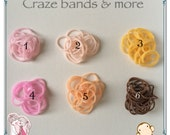 NEW Style Soft Light Pink Brown Skin Color Loom Rubber bands fit any Loom Bracelet Doll Craft