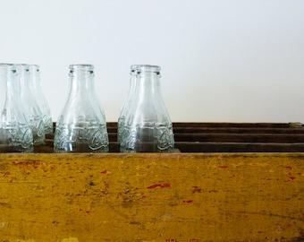 V I N T A G E // French // Coca Cola Bottles // marque et modele deposes soda aux extraits vegetaux // Glass Vase // 25cl - Set of 9
