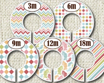 Baby Closet Dividers - Festive Colors