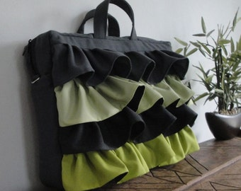Customizable for Color Fabric and Sizes Laptop Bag - Briefcase laptop bag-Tote bag -fully PADDED bag-Waterproof lining-exterior Large POCKET