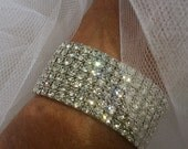 Wedding Bracelet, Rhinestone Bracelet, Bridal Jewelry, Bracelet Art Deco Inspired Crystal Rhinestones