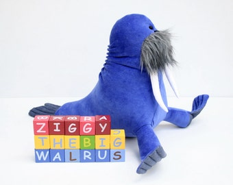 Ziggy the Big Blue Walrus stuffed animal