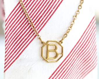B is for Bold - Letter B Vintage Tie Clip