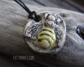 Hand painted Bumble Bee Essential Oil Diffuser / adjustable Necklace option