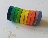 Set of 10 thin washi tapes