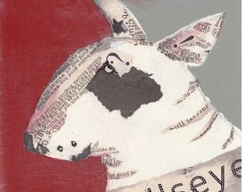 Bullseye Blank Card English Bull Terrier