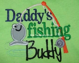 Lime Green Daddy's Fishing Buddy T-Shirt