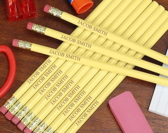 Engraved Yellow School Pencils -gfyL451913YL