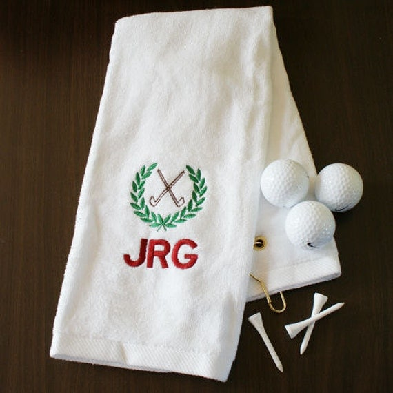 Personalized Embroidered Initials Golf Hand Towel GfyE31423