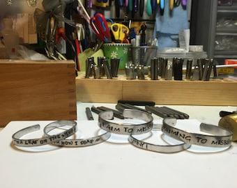 Hand-stamped Firefly/Serenity bracelet