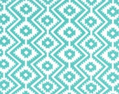 Aztec Baby Bedding, Fiesta Teal Fitted Crib Sheet or Changing Pad Cover, Southwestern Arrows Tribal Nursery, Neutral Aqua Geometric Eduardo
