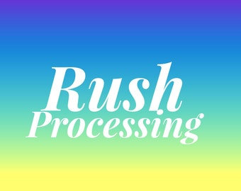 EXPRESS PROCESSING Rush Order - expedite processing time