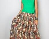 Maxi Skirt - Paisley Skirt - Boho Maxi Skirt : Feel Good Collection No.1