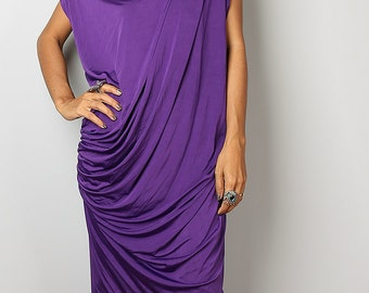 Purple Dress - Trendy Purple Evening Maxi Dress : Funky Elegant Collection No.9s