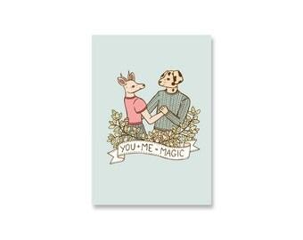 SALE Magic Mini Print / Postcard