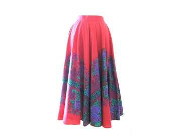 French Provencal Soleiado Long Circle Skirt Size Small