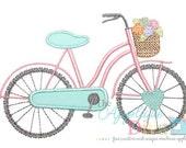 Summer Girly Bike Digital Embroidery Design Machine Applique