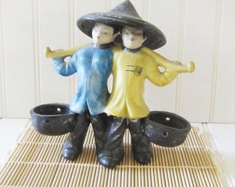 Occupied Japan Water Carrier Figurines