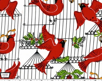 Holiday Birds - Hollyberry from Michael Miller