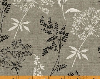 Jardin De Provence - Wild Flowers Gray by Daphne Brissonnet from Windham Fabrics
