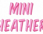 Mini Heather - .5in. (half inch) - Machine Embroidery Font - BUY 2 get 1 FREE - Mini Fonts
