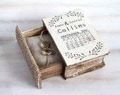 Wedding Ring Box Save the Date Ring Bearer Box Personalized Wedding Box Ring Keepsake Box Calendar Wedding Ring Box Custom Wedding Holder