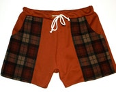 Frankie Four Handmade Men's Vintage Style Rust Brown Swim Trunks