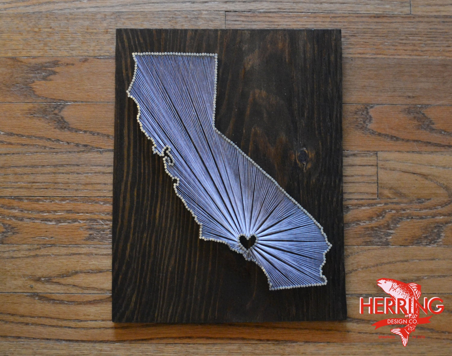 Stained wood string art state string art nail art stained california state string art los angeles california stained nail art city prinsesfo Image collections