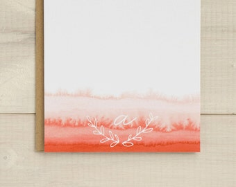 Ombre Stationery, Personalized Notecards, Personalized Stationery, Watercolor Cards, Initial Stationary, Personalized Gift