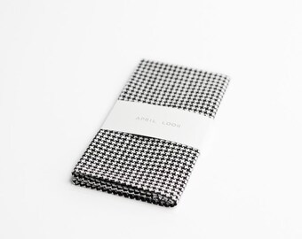 Black and white handkerchief, houndstooth pocket square