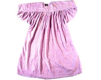 VINTAGE 70s India Cotton Gauze Caftan Hippie Festival Gipsy Kaftan Tent Dress ZodiAC Deadstock