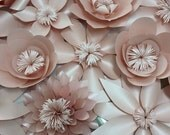 Blush Paper Flowers Backdrop 4x8ft. Wedding Flower, Wedding Bouquet, photo prop, wall flowers,
