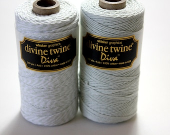 CLOSEOUT - Baker's Twine - Mint Diva Stripe Divine Twine - Full Spool - 240 yards