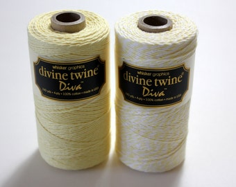 CLOSEOUT - Baker's Twine - Lemonwood Diva Stripe Divine Twine - Full Spool -240 yards