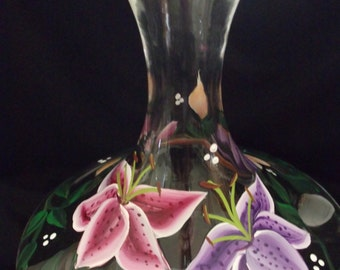 Lily Hand Painted Carafe