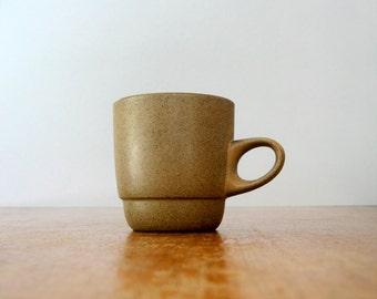Vintage Heath Ceramics Low Handled Stacking Mug - Brown / Birch